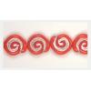 Glass Bead Swirl Opaque Orange/Silver Strung 12x11mm